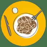 Icono comidas en familia